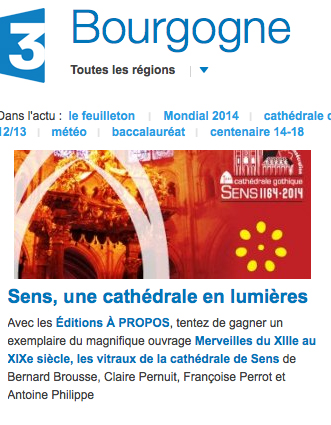 France 3 propose un jeu autour de la cathédrale de Sens